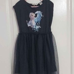 Frozen Dress with tulle skirt size 6-7x
